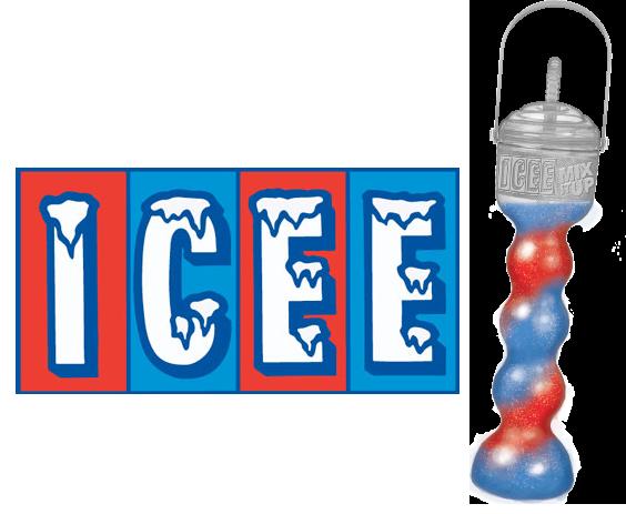 Icee logo & souvenir cup